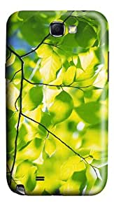 silicone cases green foliage branches PC case/cover for samsung galaxy N7100/2