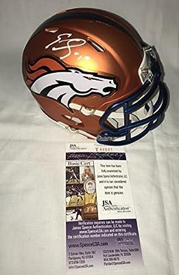 Emmanuel Sanders Signed / Autographed Denver Broncos Blaze Alternate Mini Football Helmet - JSA Certified