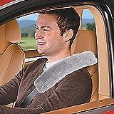 2 PCS Authentic Sheepskin Auto Seat Belt Cover
