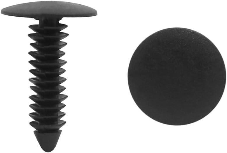 uxcell 20pcs 7mm Auto Car SUV Plastic Rivet Fastener Mud Flaps Fender Push Clip Black