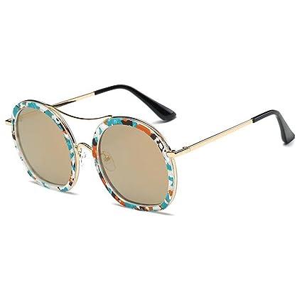LBY Gafas De Sol Polarizadas Vintage para Mujer Gafas De Sol Redondas para Hombres Gafas de