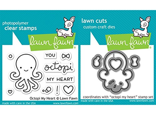 - Lawn Fawn Clear Stamp & Die Set - Octopi My Heart LF1295 & LF1296