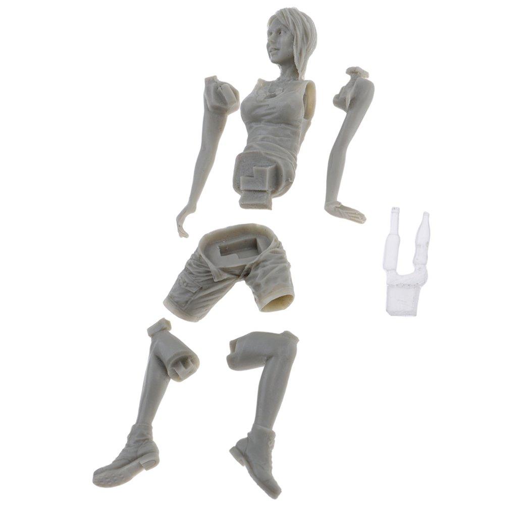 Sharplace 1//20 Harz Mini Süße Mädche Action Figur Actionfiguren Modellfigur /( Unlackiert /)