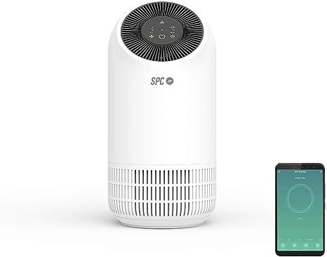 SPC Espirare: Purificador de aire inteligente, Wi-Fi, Control mediante App, Triple filtrado de aire, HEPA, 3 modos de funcionamiento, Modo silencioso, Compatible con Amazon Alexa, Google Home, Blanco: Amazon.es: Electrónica