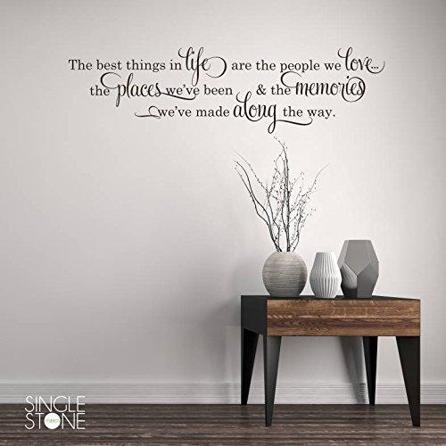 N.SunForest Best Things in Life Wall Decal - Vinyl Wall Words On Etsy Custom Home Decor (The Best Things In Life Wall Decal)