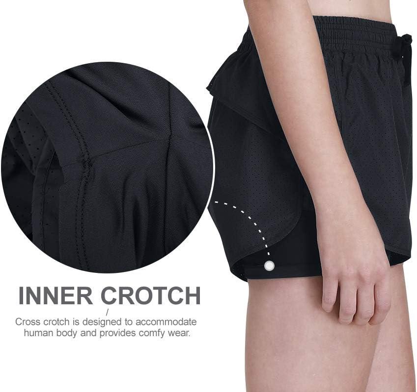 CAMEL CROWN Pantaloncini Sportivi da Donna Traspirante Leggero Corti Pantaloni Atletico per Sport Yoga Corsa Jogging Esercizio Palestra Allaperto