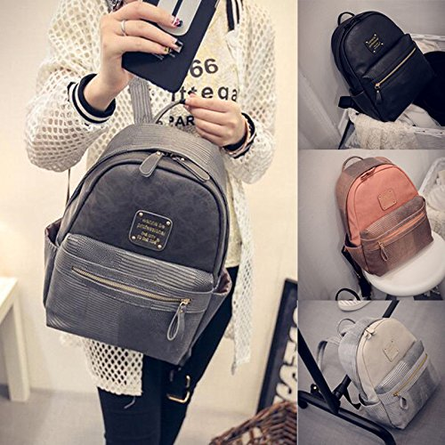 XENO-Women Backpack Travel PU Leather Handbag Rucksack Shoulder School Bag Hobo Totes