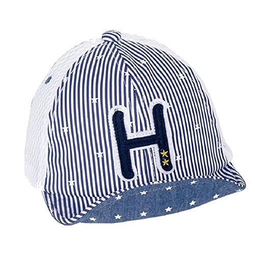 MIA GARMENT Infant Toddler Hat Baseball Cap Summer Striped Mesh Hat Cotton Sun Hat for Kids Navy (Mia Mesh Cap)
