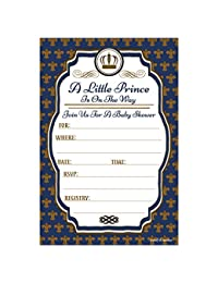 Little Prince Baby Shower Invitations (20 Count) With Envelopes BOBEBE Online Baby Store From New York to Miami and Los Angeles