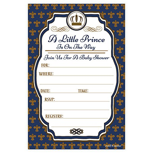 Little Prince Baby Shower Invitations (20 Count) With