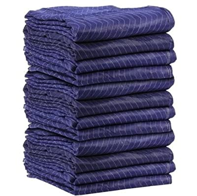 "Lot 12 PC Moving Blankets Padded Furniture Pads Protection 72"" x 80"" Blanket"
