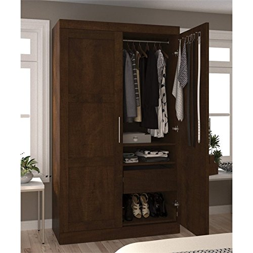 Amazon.com: Atlin diseños Pullout Armoire en Chocolate ...