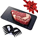 SALE!! Defrosting Tray with Two Meat Claws | Rapid Thawing Plate (LARGEST SIZE - 14 inches) Meat Claws & Defrost Tray for BBQ, Kitchen Tools, Frozen Foods