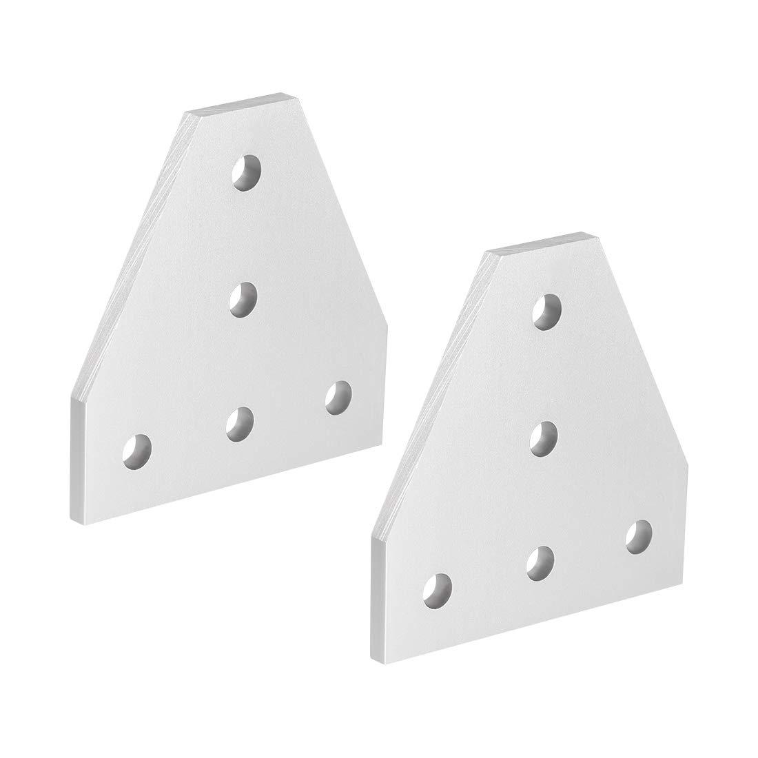 60 mm x 60 mm x 4 mm con soporte de junta de 5 agujeros para perfil de aluminio 2020 Placa de uni/ón exterior en forma de T de mapa de abastecimiento