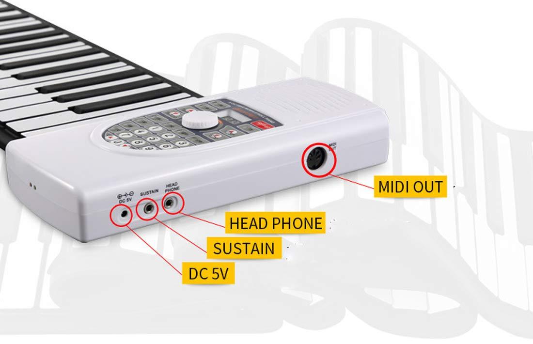 Piano Portátil Flexible De 88 Teclas Altavoz Estéreo Magnético Dual Con Teclado Suave USB Plegable, Apto Para Principiantes Enviar Un Pedal De Sostenido: ...