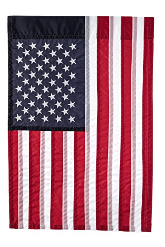 """Embroidered American Flag 12"""" X 18"""" Garden Flag 