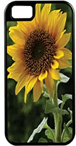 lintao diy Rikki KnightTM Large Sunflower Black Tough-It Case Cover for iPhone5 & 5s (Double Layer case with Silicone Protection)