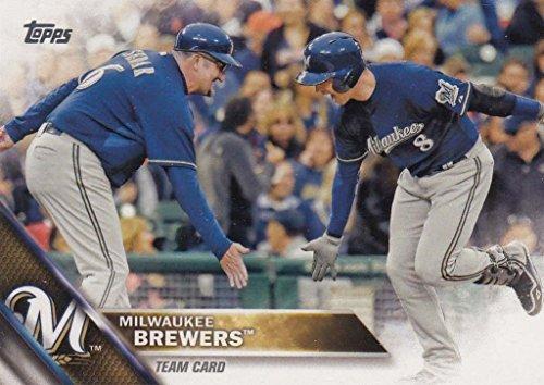 Brewers Braun Milwaukee Ryan (Milwaukee Brewers 2016 Topps MLB Baseball Regular Issue Complete Mint 25 Card Team Set with Matt Garza, Ryan Braun Plus)