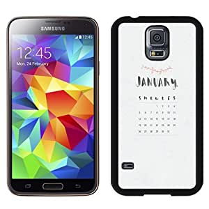 Easy use Cell Phone Case Design with January 2014 Calendar Galaxy S5 Wallpaper
