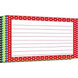 TOP NOTCH TEACHER PRODUCTS BORDER INDEX CARDS 4X6 POLKA DOT (Set of 24)