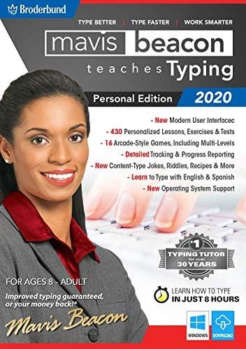 Mavis Beacon Teaches Typing 2020 Personal Edition [PC Download]