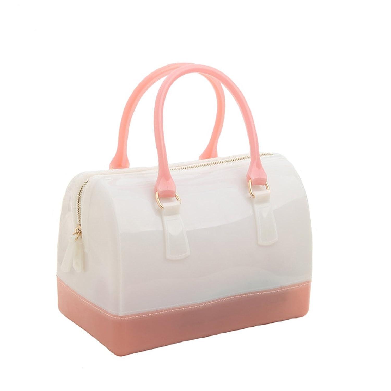 Womens Handbag Candy Colored Transparent Crystal Bag Girl's Shoulder Bags
