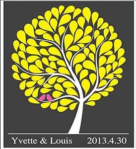 GxNI Creativo de la boda de la huella digital del árbol