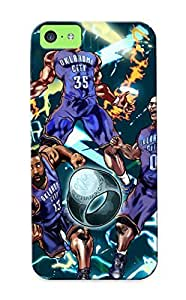 Design High Impact Dirt/shock Proof Case Cover For Iphone 5c (oklahoma City Thunder Basketball Nba)