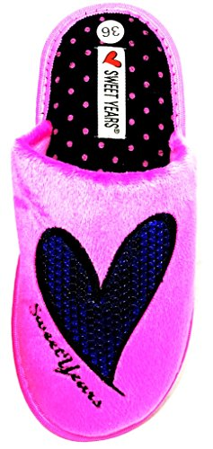 Donna MOD Fuxia Invernali 0441 Ciabatte Sweet Years Pantofole qwF1TnIH