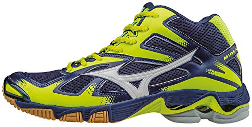 Mizuno Wave Bolt Mid, Scarpe da Pallavolo Uomo Blu (Twilightblue/White/Safetyyellow)
