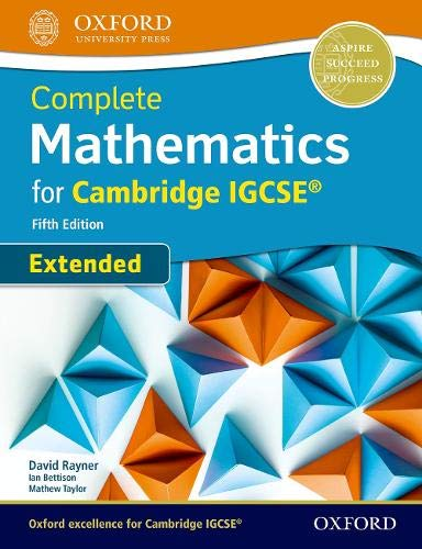 Complete mathematics extended for Cambridge IGCSE. Students ...