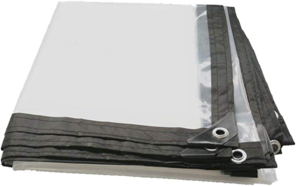 LIANGLIANG Toldo Reforzado Lona Impermeable Ojetes Metálicos Transparente
