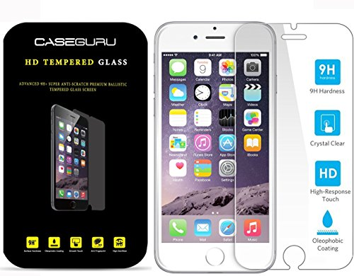 iPhone SE/5C/5S HD Glass Screen Protector Tempered Glass - Clear Advanced 9H+ Ballistic Glass Screen, Maximum Screen Protection, Premium Tempered Glass - iphone 5s tempered glass By Caseguru