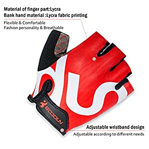 Fred&LC New Fashion Cycling Gloves Mountain Bike Road Racing Bicycle Motorcycle Riding Shockproof Foam PaddedOutdoor Sports Half Finger Short Gloves Men/Women