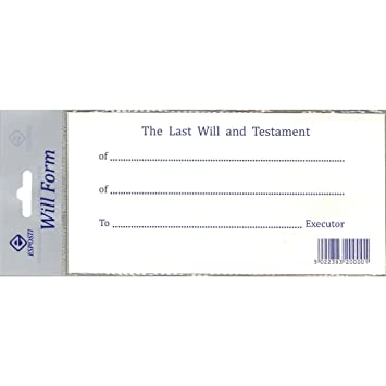 Last Will And Testament Forms - 2013 Update: Amazon.Co.Uk: Kitchen