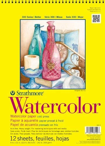 (Strathmore 360-11 300 Series Watercolor Pad, Cold Press, 11