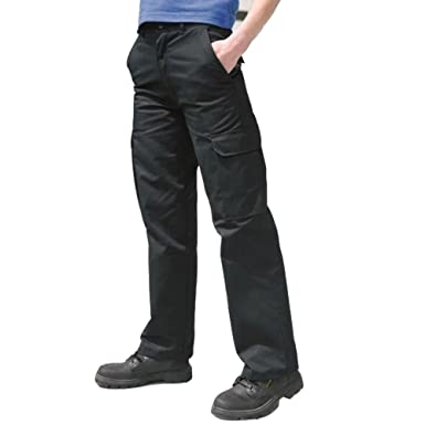 2fdb33ed35e9 Army And Workwear Ladies Womens Cargo Combat Work Trousers Healthcare Pants  Part Elastic Waistband: Amazon.co.uk: Clothing