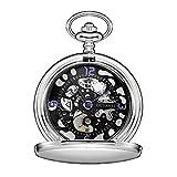 OUYAWEI Luxury Men's Mechanical Pocket Watch + Chain Gift