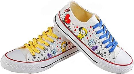 GFEIW Low Tops Zapatos bajo Blanco KPOP Zapatillas de Lona Zapatos ...