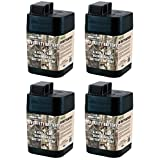 4 MOULTRIE 6 Volt Rechargeable Safety Batteries for Automatic Deer Feeders |SRB6