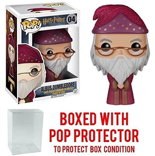 Funko Pop! Movies: Harry Potter - Albus Dumbledore #04 Vinyl Figure (Bundled with Pop BOX PROTECTOR CASE) Ron Weasley Yule Ball