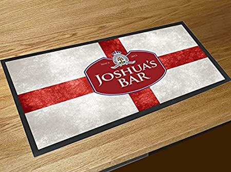 Personalised Any Text Beer Mat Label Bar Runner Ideal Home Pub Cafe Occasion