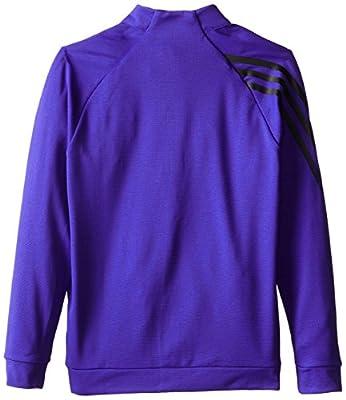 adidas Golf Boy's 3 Stripes 1/2 Zip Shirt