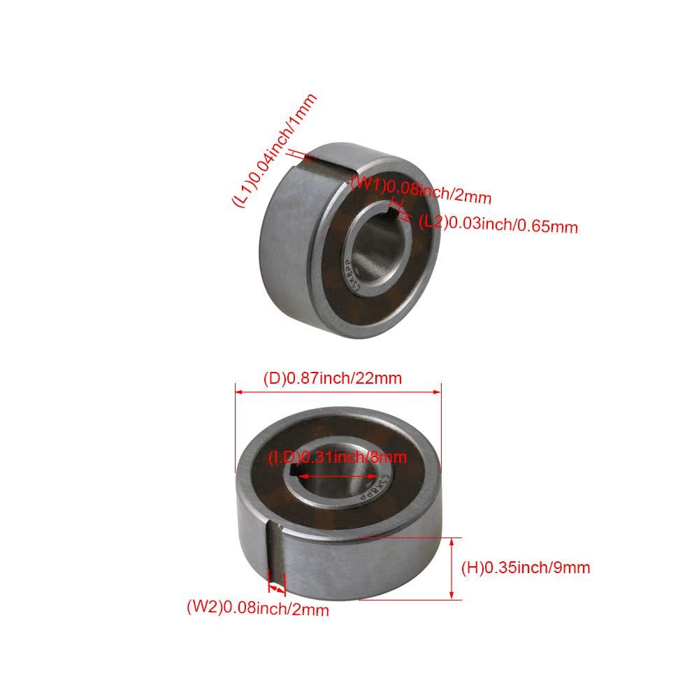 Bearing Steel CSK8PP 8x22x9mm One Way Dual Keyway Bearing Clutch Sprag