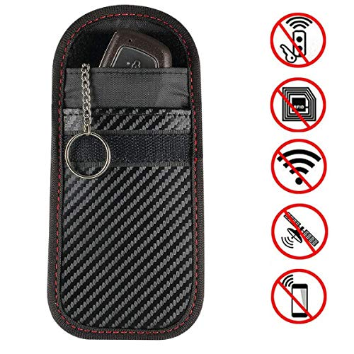 ZealBea Focus Car Key Signal Blocker Pouch, Vehicle Keyless Entry RFID Blocking Bag for Car Keys and Credit Card Fob Guard/Anti Theft/WiFi NFC GSM LTE RF Block Faraday Case
