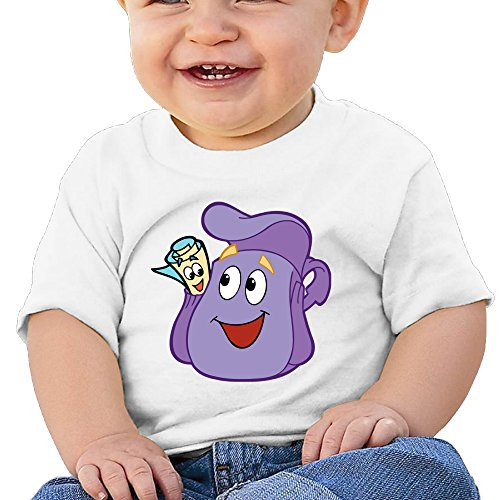 Price comparison product image Boss-Seller Dora The Explorer Short Sleeve Infants Round Collar For 6-24 Months Boys & Girls Size 24 Months White