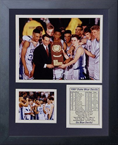 Duke Blue Devils Framed - 11x14 FRAMED 1991 DUKE BLUE DEVILS NATIONAL CHAMPIONS Krzyzewski 8X10 PHOTO