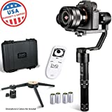EVO Rage 3 Axis Gimbal for Mirrorless Cameras - Works with Sony A7S II, Panasonic GH4 GH5 - 1 Year USA Warranty | Bundle Includes: Rage + Tripod Stand + Wireless Remote + Extra Batteries