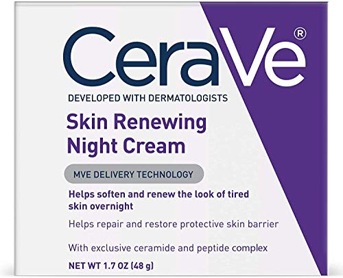 CeraVe Night Cream for Face | 1.7 Ounce | Skin Renewing Night Cream with Hyaluronic Acid & Niacinamide  | Fragrance Free (1.7 Ounce Cream)