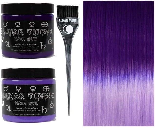 Lunar Tides Tinte para el cabello púrpura Iris: Amazon.es ...